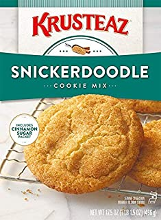 Krusteaz Snickerdoodle Cookie Mix, 17.5-Ounce Boxes Cinnamon Sugar Packet (Pack of 3)