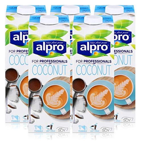 Alpro for professionals Coconut 1L - Kokosnussdrink mit Soja angereichert mit Calcium (5er Pack)