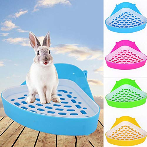 Xiton Pequeño Animal Potty Creativo Pequeño Animal Doméstico WC Bedding Box para Conejo Conejillo de Indias Chinchilla Color Al Azar 1 Unid