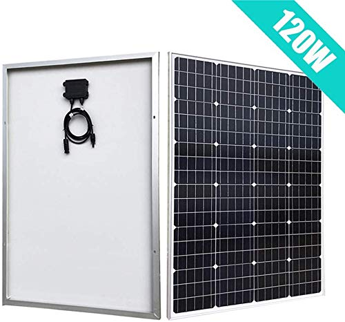 LJYLF Portable 100W Monocrystalline Solar Panel, ECO-WORTHY RV Marine Boat Off Grid System Solar Panel, for Charging 12V Battery in a Motorhome, Caravan, Camper, Boat, Yacht,Black