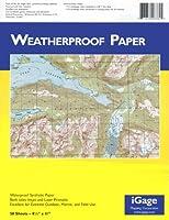 iGage Weatherproof Paper 8.5x11-50 Sheets [並行輸入品]