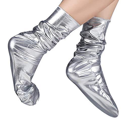 COZOCO Unisex Frauen Männer Socken Arbeit Business Casual Strumpf Mode reflektierende einfarbige Socke bequeme Patchwork mittlere Länge Socken(splitter)
