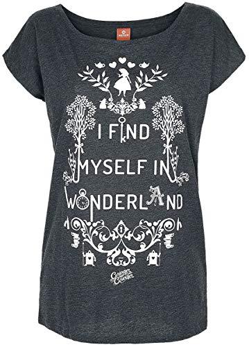 Alice im Wunderland I Find Myself In Wonderland Frauen T-Shirt grau meliert M