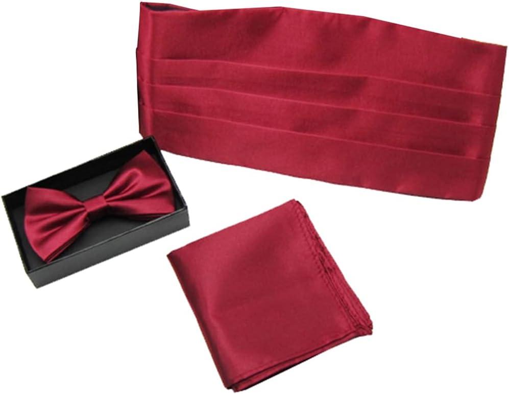 Dorakitten Men Tuxedo Accessories Fashion 3PCS Casual Solid Color Decorative Portable Simple Bow Tie Decorative Bowtie