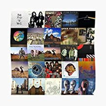 Vintage Pink Floyd Album Covers Collage Po - For Office Decor, College Dorm, Teachers, Classroom, Gym Workout And School Halloween, Holiday, Christmas Party ! Great Inspirational Wall Art Poster.