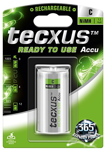 Tecxus 23805 Batteria ricaricabile ready to useC (Baby)/HR14 - 4500 mAh - Pronte all'uso  già cariche! autoscarica bassa NiMH (ready-to-use)  1 2 V