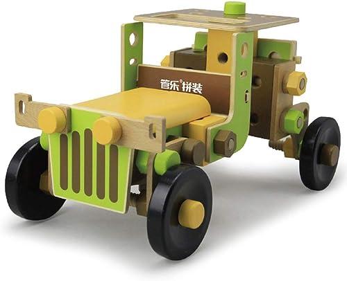 LHYP 3D-Holzbau Konstrukt Schrauben Spielzeug, H erne Jeep-Transporter Modell Spielzeug Für Jungen und mädchen, Frei Kombinieren Mehr Montage Stile, Vorschulkinder P gogische Spiele 98 Stück