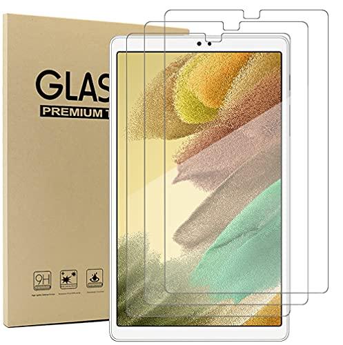 Acadeny(3 Paquete Cristal Templado Protector Pantalla para Samsung Galaxy Tab A7 Lite '' Tablet, Dureza 9H, Anti-arañazos, Anti-Aceite, Anti-Burbujas, Borde Redondo 2.5D, Transparente