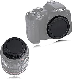 VKO カメラボディキャップとリアレンズキャップ キヤノンCanon用 EOS Kiss F/X50/9000D/8000D/X9i/X9/X8i/X7i/X7/X6/X6i/X5/X80/X70/N80D/77D/70D/60D/6D/7D ...
