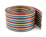 Pc Accessories - Connectors Pro IDC 40P 10 Feet 1.27mm Pitch Rainbow Color Flat Ribbon Cab...