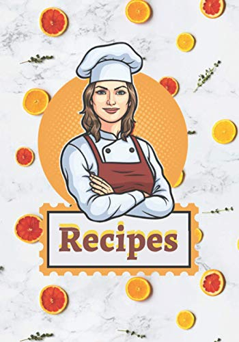 Recipes: recipe book for own recipes | recipe book to write in | cookbook notebook journal | Collect the Recipes You Love in Your Own Custom Cookbook.
