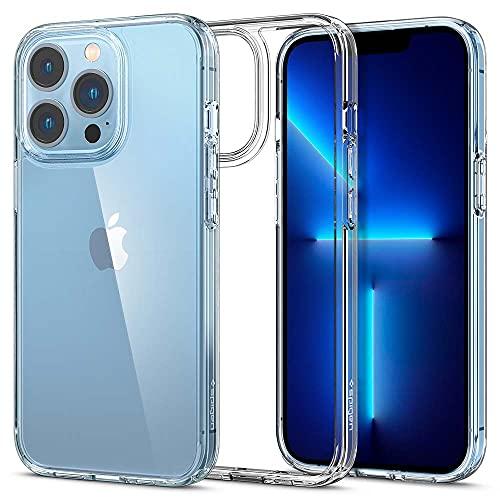 Spigen Ultra Hybrid Kompatibel mit iPhone 13 Pro Hülle [Anti-Yellowing] Handyhülle dünn transparent hardcase silikon -Crystal Clear