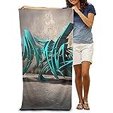 utong Toallas de Playa 100% algodón 80x130cm Toalla de Secado rápido para Nadadores Street Art Beach Blanket