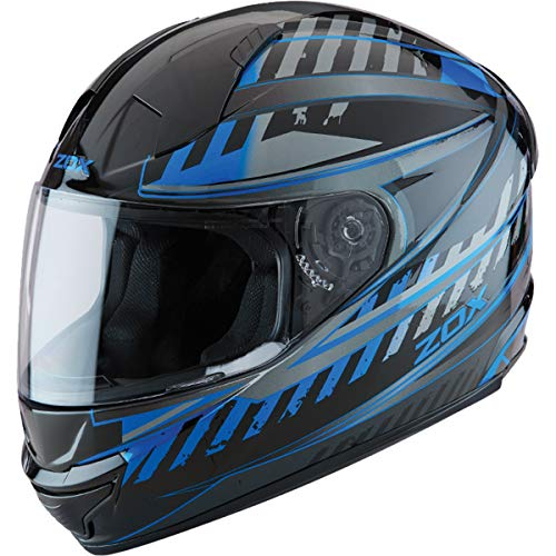 ZOX ST-11118 'Thunder 2' Blade Blue and Black Full-Face Motorcycle Helmet - X-Large