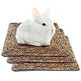 SunGrow Seagrass Rabbit Mat, 12x12 Inches, Edible, Handmade, Hay Mat...