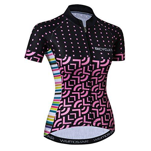 JPOJPO Camiseta de ciclismo para mujer, manga corta, para verano, para ciclismo, ropa de bicicleta
