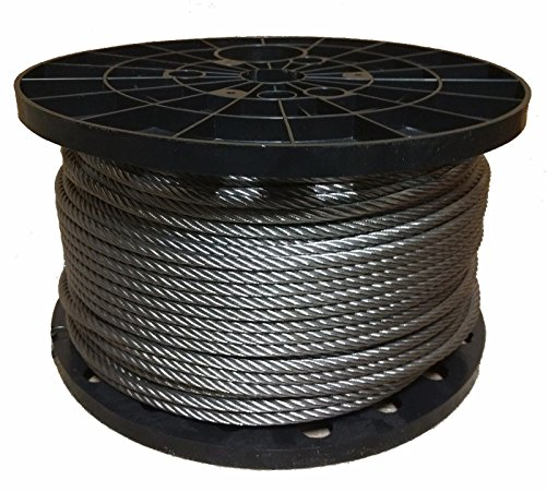 1/4' Stainless Steel Aircraft Cable Wire Rope 7x19 Type 304 (100 Feet)