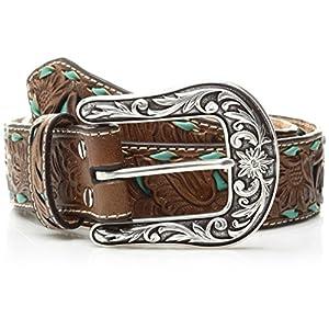 Nocona Belt Co. Women's Turquoise Inlay Buck Belt 11