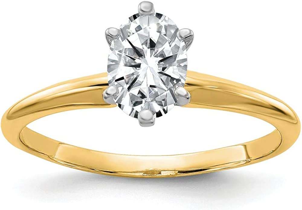 14k Yellow Gold 2ct. G H I True Oval Moissanite Solitaire Band Ring Size 7.00 Engagement Gsh Gshx Fine Jewelry For Women Gifts For Her
