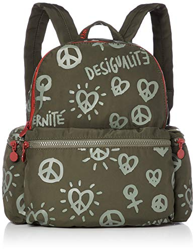 Desigual Fully OSS City Rucksack 28 cm, Kaki, one size
