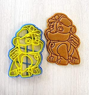 Cookie Cutter by 3DForme, 4 inch PAW Patrol Baking Dog Puppy Cake Fondant Frame Mold for Buscuit, Set 2 Piece