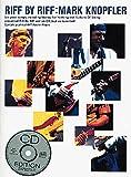 riff by riff: mark knopfler. spartiti musicali, cd per chitarra tab(con simboli accordi), testi & accordi (con simboli accordi)