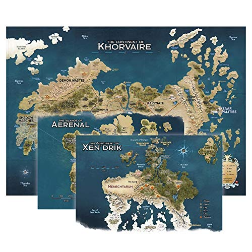 Gale Force Nine D&D Eberron - Juego de mapas de Naciones de Khorvair