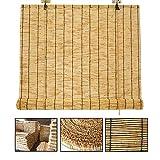 LBYDXD persiana Bambu, Persianas De Caña - Retro Natural - 120cm, A Prueba de Humedad, a Prueba de Moho, Filtro,...