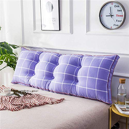 Bedside Triangle Cushion Backrest Bedside Cushion Pillow Bed Headboard Backrest Reading Pillow Lumbar Pad Back Cushion For Sofa Or Bed Patio Bench Cushions With Removable Cover,C-150 * 20 * 50 cm