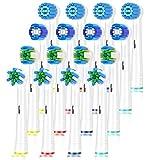 ITECHNIK Recambios Cepillo Compatible Oral b,cabezales de repuesto Compatible eléctrico Pro 700 Pro 5000 Pro 6500, 4 Precision,4 Floss,4 Cross,4 Sensitive