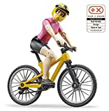 Bruder Bworld 63111 Mountain Bike with Cyclist and Helmet