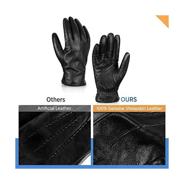 Alepo Genuine Sheepskin Leather Gloves For Men 3