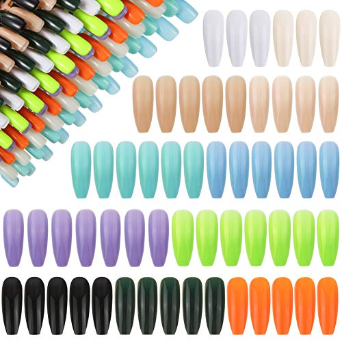 792 Stück Künstliche Fingernägel Lange Acryl Nägel Ballerina Falsche Nägel Gefälschte Vollabdeckung Gefälschte Fingernägel Sarg Nagelspitzen für Frauen und Mädchen ,11 Farben
