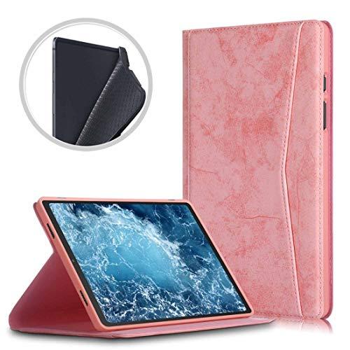 A+Xu Jie For el Caso de Samsung Galaxy Tab A7 2020 T500 / T505 mármol Textura del paño de TPU Horizontal de Cuero del tirón con el sostenedor (Color : Rosado)