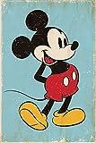 Mickey Mouse Poster Retro Blue (61cm x 91,5cm) + Ü-Poster