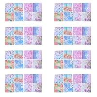 ledmomo 折り紙 花 DIY用品 ペーパークラフト 可愛い アクセサリー 正方形 工芸品 手作り 装飾 プレゼント 女の子 子供 キッズ ホーム 暇つぶし 100枚