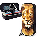Ilustración de The Lion King Cute Pu Leather Pencil Case 20X9X4cm Double Zippers Pencil Pouch Bag for School Office Girls Boys Adultos