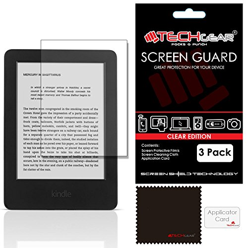 TECHGEAR [3 Pack] Screen Protectors for Kindle 6' with Touchscreen Display...