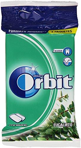 Orbit Chicle sin Azúcar con Sabor A Eucalipto 4 Paquetes x 10gageas