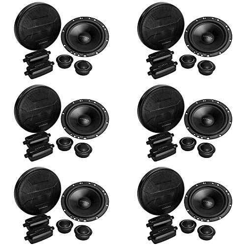Lowest Price! Hifonics ZS65C Zeus 6.5 2 Way Car Audio 400W Component Speaker Systems (6 Pack)