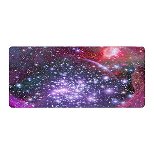 Dark Colorful Star Sky Vision Desktop and Laptop Mouse pad 1 Pack 700x300x3mm/27.6x11.8x1.1 in
