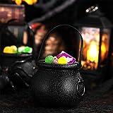 STOBOK 12 Stück Hexenkessel Schwarz,kleine Hexe Süßes oder Saures Süßigkeiten Halter Halloween Candy Bucket - 2