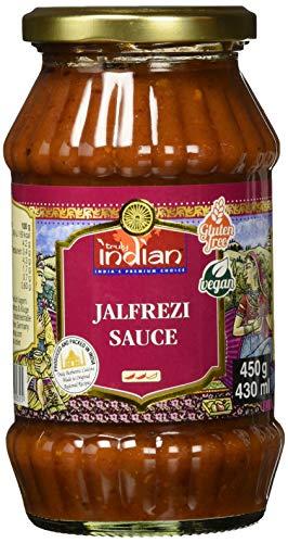 TRULY INDIAN Sauce für Jalfrezi – Würzig-scharfe Fertigsauce für schnelle Gerichte mit natürlichen Zutaten – Authentisch indisch kochen – Vegan & glutenfrei –  3 x 450 g