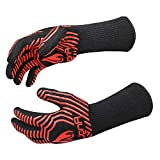 AngLink 1472℉ Extreme Heat Resistant BBQ Gloves, Food Grade Kitchen Oven Mitts - Flexible Oven...