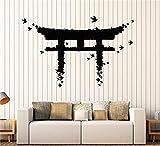 pegatinas de pared harry potter Vinilo Adhesivo de pared Japón Puerta Pájaros Arte japonés Pegatinas asiáticas Decoración grande