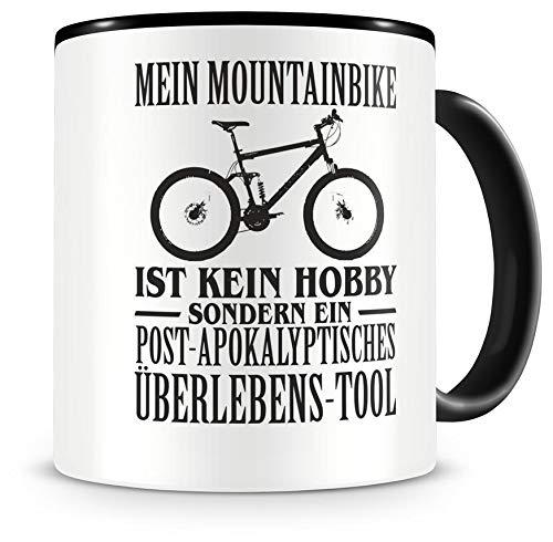 Samunshi® Mein Mountainbike ist kein Hobby Tasse Kaffeetasse Teetasse Kaffeepott Kaffeebecher Becher