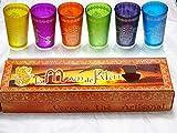 6 Vasos MARROQUIES DE Mano DE Fatima, Multicolor, ARTESANALES - Calidad Y DISEÃ'O -KENTA ARTESANIAS