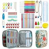 E-More Agujas de Ganchillos,Kit de Ganchillos Accesorios con Bolsa Regalo para Fiesta,Cumpleaños Mujer Madre Ganchillo Crochet para Novatos Principiantes