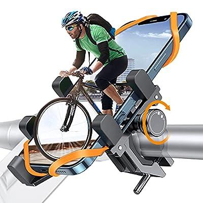 DesertWest Fahrrad Handyhalterung, Luftfahrt-Aluminiumlegierung Motorrad Scooter Universal MTB Rennrad Handy Halterung Fahrradlenker Schnellspanner Outdoor Lenker Halter Für 4,7-7,2 Zoll Smartphone