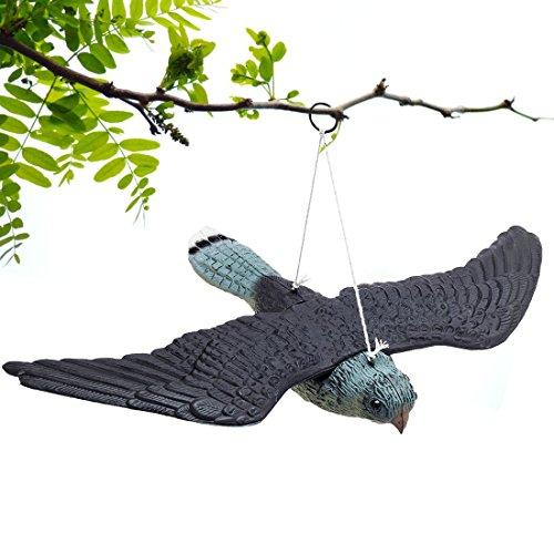 Defenders Flying Falcon Decoy,Premium Birdful repellente per uccelli falso Falco volante Decoy, realistico deterrente per uccelli, spaventa uccelli foraggiatori da aree esterne(34.5*52*9CM )